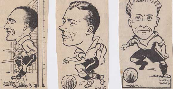 Three Port Vale caricatures from the 1940s