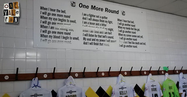 One more round sign at Vale Park