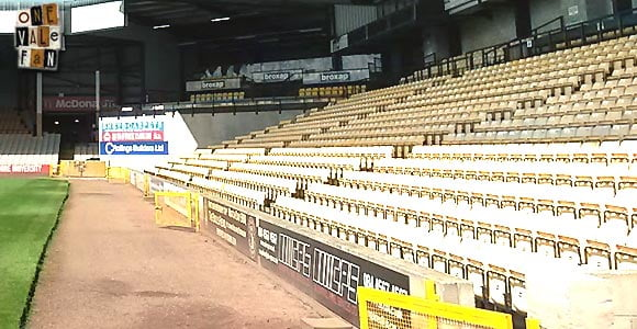 Vale Park Lorne St stand seats