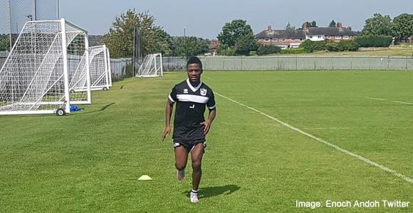 Enoch Andoh returns to training