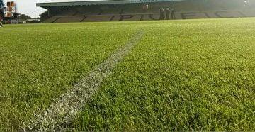 The Vale Park stadium pitch