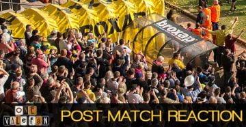 Post match reaction