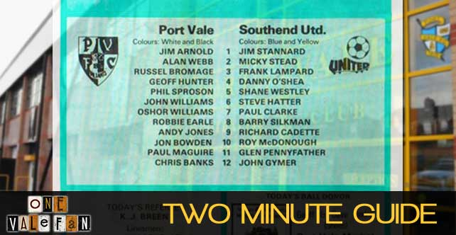 Two minute guide: Port Vale v Southend Utd