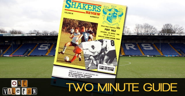 Two minute guide to: Bury v Port Vale