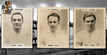 Port Vale cigarette cards - Billy Briscoe, Bob Pursell and Tom Lyons
