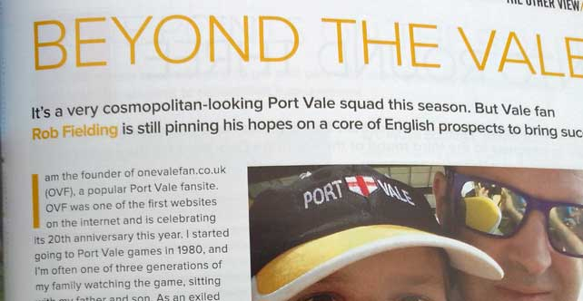 Fan feature in the AFC Wimbledon programme