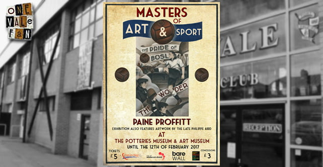 Your invitation to an evening showcasing Port Vale and sport artwork