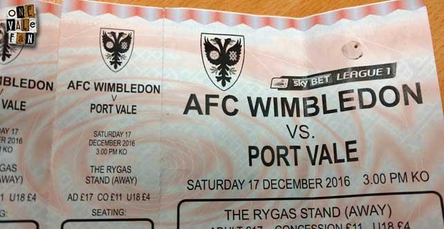 AFC Wimbledon ticket