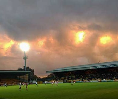 Clouds over the Vale Park stadium