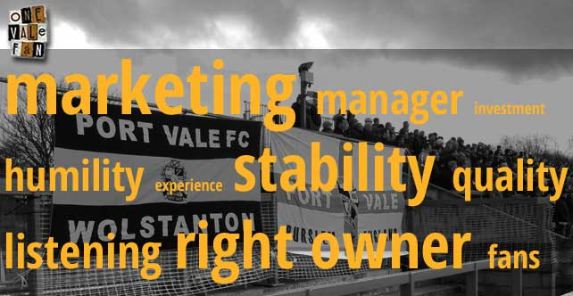 A nine point long-term plan to turn Port Vale's fortunes around