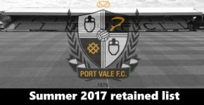 Port Vale retained list – Hooper, Cicilia and Thomas leave the club