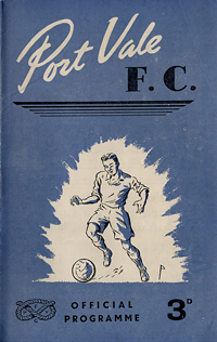 1950 Port Vale matchday programme cover