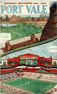 1953 Port Vale matchday programme