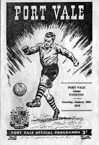 1958 Port Vale matchday programme