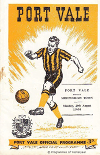 1960 Port Vale matchday programme