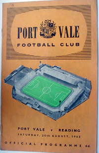 1962 Port Vale matchday programme