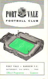 1964 Port Vale matchday programme