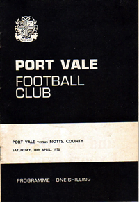 1969 Port Vale matchday programme