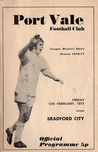 1970 Port Vale matchday programme