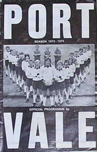 1973 Port Vale matchday programme
