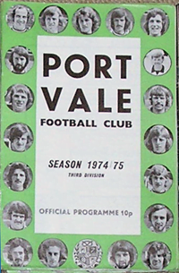 1974 Port Vale matchday programme