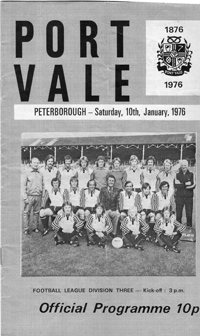 1975 Port Vale matchday programme