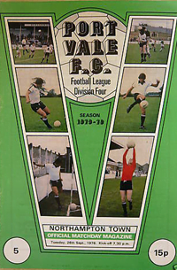 1978 Port Vale matchday programme