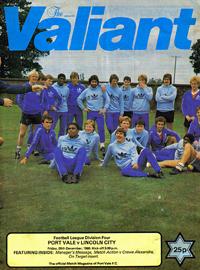1980 Port Vale programme