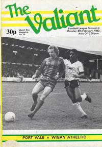 1981 Port Vale programme
