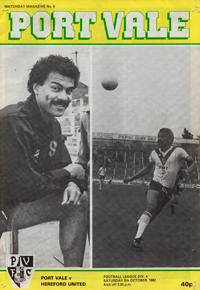 1982 Port Vale programme