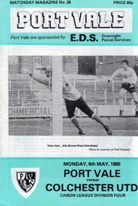 1984 Port Vale programme