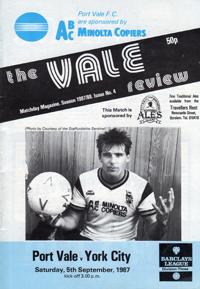 1987 Port Vale programme