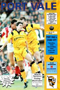 1992 Port Vale programme