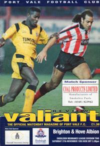 1993 Port Vale programme
