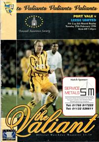 1995 Port Vale programme