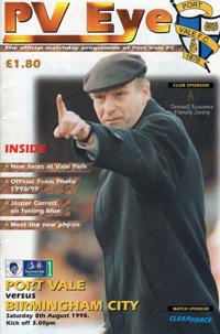 1998 Port Vale programme