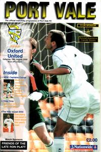 2000 Port Vale programme