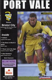 2001 Port Vale programme