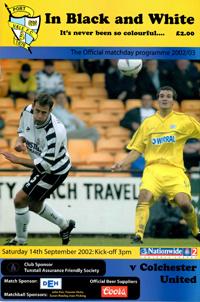 2002 Port Vale programme