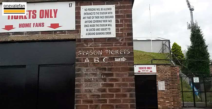 Port Vale Turnstiles Vale Park stadium