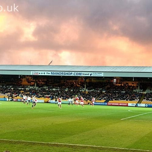 Clouds over the Railway stand, Vale Park stadium