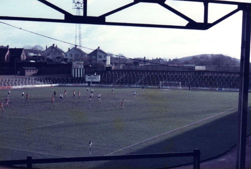 The Hamil Road terraces, Vale Park stadium