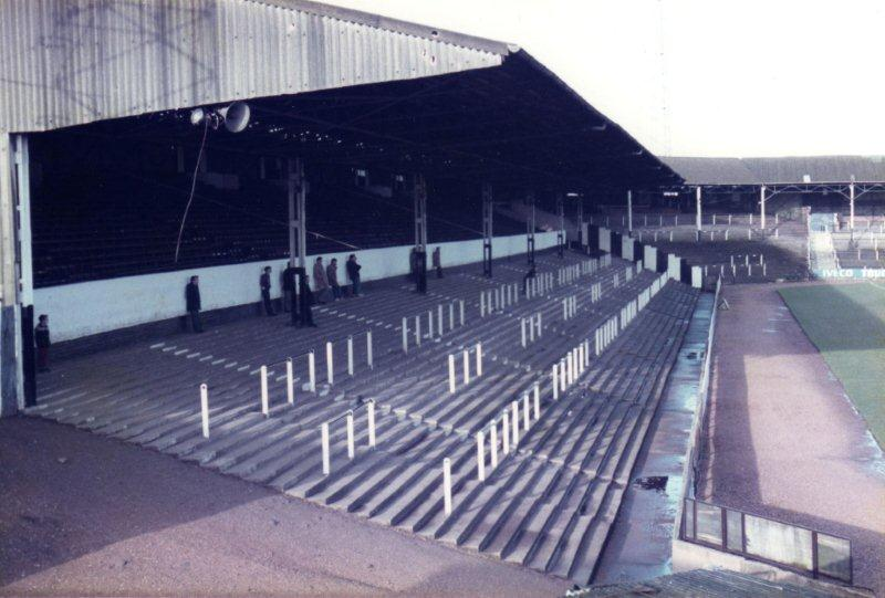 Terracing in the Railway stand, Vale Park stadium