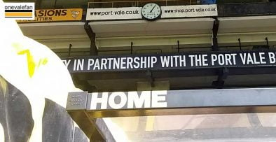 Vale Park home bench
