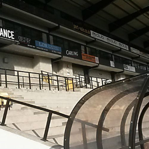 The unfinished section of the Lorne Street stand, Vale Park stadium