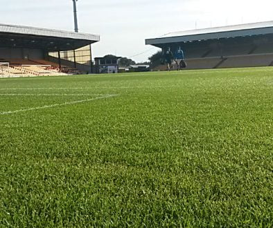 The Vale Park stadium pitch