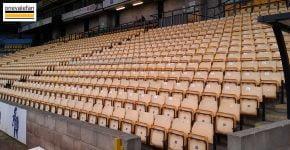 Seats in the Lorne Street stand, Vale Park stadium