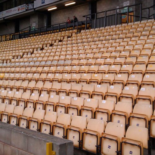 Seats in the Lorne Street stand, Vale Park stadium