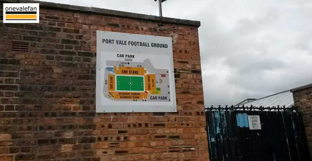 Sign at Vale Park
