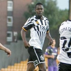 Port Vale player Manny Oyeleke